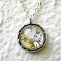Storytime Pooh and Christopher Robin Petite by TheGreenDaisyShop