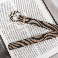 Go Wild Camel Tiger Striped Belt