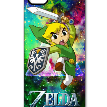 The legend of zelda on galaxy nebula iPhone 5/5s Case