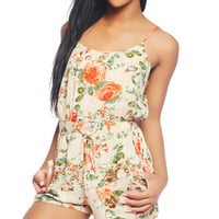 Floral Printed Romper | Wet Seal