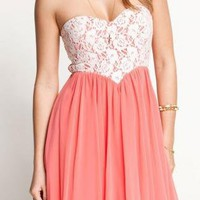 Lace Wrapped Chest Lovely Dress For Women