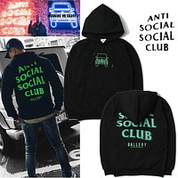 Anti Social Social Club x RSVP Fluorescent letters hooded sweater M---XXL