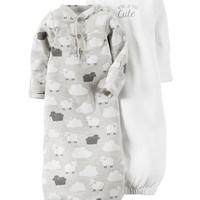 2-Pack Babysoft Sleeper Gowns