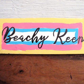Beach house wall decoration-Beach quote sign-Coastal wall art-Rustic nautical wall decor-Wooden beach sign-Funny beach sign