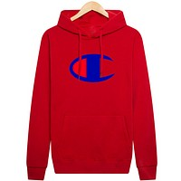 Champion new hooded autumn and winter sweater printing sweater Red