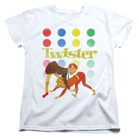 Twister Womens T-Shirt Old School White Tee