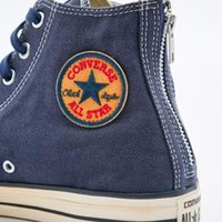 Converse Chuck Taylor Vintage Twill Trainers in Navy - Urban Outfitters