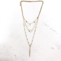 Run Wild Triple Layered Gold Necklace