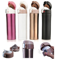500ML Stainless Steel Travel Mug water Vacuum insulated Thermal Cup Bottle KY
