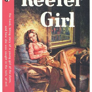 Reefer Girl 11x17 Retro Book Cover Poster