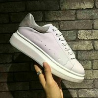 Alexander Mcqueen Old Skool Woman Men Fashion Sneakers Sport Shoes
