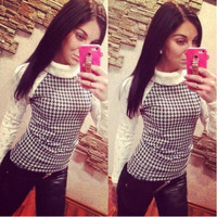 New Fashion Plus Size Women Autumn Sweatshirt Pullover Patchwork Lace Crochet O Neck Full Sleeve Hoodies Winter Tops