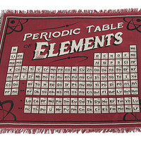 Exclusive Periodic Table of Elements Blanket