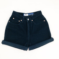 ORIGINAL BLACK  High Waisted Shorts levis wrangler, gap, guess
