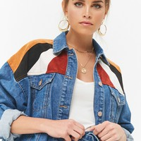 Colorblocked Denim Jacket