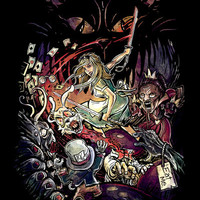 Zombies in Wonderland Art Print by Alice X. Zhang | Society6