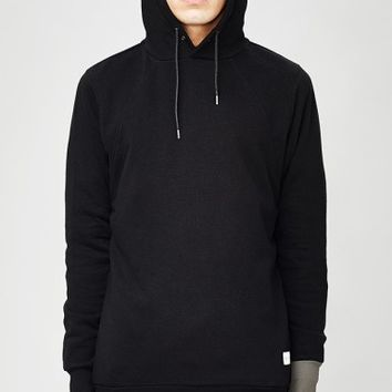 NONSENSE HOODED SWEATER BLACK - Outerwear