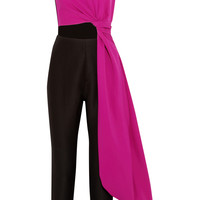 Roksanda Ilincic - Cutout color-block crepe jumpsuit