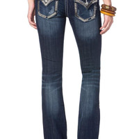 Chain and Stud Leather Trim Miss Me Bootcut Jean