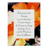 """""""Just a Weed"""" Serenity Prayer Poster"""