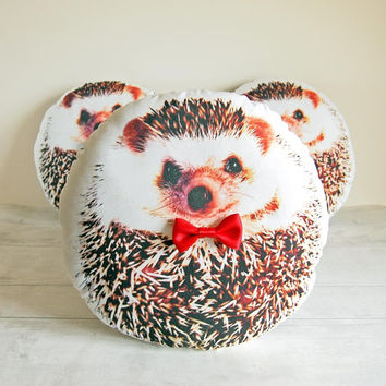 Cute hedgehog stuffed animal, Hedgehog gift ideas, Hedgehog presents, Gift for hedgehog lover, Hedgehog plush, Mothers day gift, RED