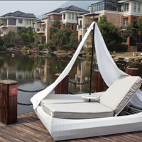 2015 Wicker Outdoor LOUNGE Patio Furniture Daybed