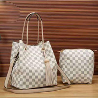 LV Women Shopping Leather Tote Crossbody Satchel Shoulder Bag Two-Piece H-LLBPFSH