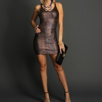 Black Fitted Foil Tunic
