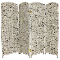 Oriental Furniture FB-NEWS1-4P Four Ft. Tall Recycled Newspaper Room Divider, Width - 15.75 Inches