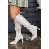 Laurie Heeled Boots (Blush/Croc)