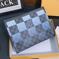 LV Louis Vuitton Color Letter Printing Womens Shopping Clutch, Cosmetic Bag, Envelope Bag-3