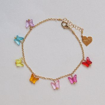 Crystal Clear Butterfly Bracelet
