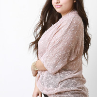 Loose Knit Twisted Sweater Top