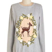 Sugarhill Boutique Kawaii Long Sleeve Deer, Far, Wherever You Are Sweater