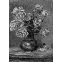 Renoir Le Bouquet Art poster Metal Sign Wall Art 8in x 12in Black and White