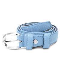 1 PC Faux Casual Leather Waist Belt Width Women Lady Girl Skinny Thin Buckle Waistband Strap Prue Colors