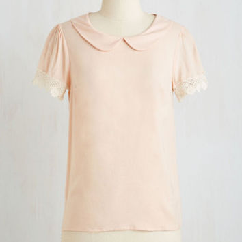 Mid-length Short Sleeves Surprise Tea Party Top
