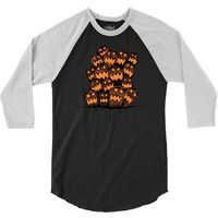 halloween ghost 3/4 Sleeve Shirt
