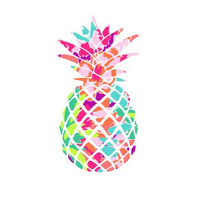 Pineapple Lilly Pulitzer  Decal, Lilly Inspired Decal Monogram, Lilly Pulitzer Decal, Lilly car decal, Lilly Pulitzer Yeti Custom Decal