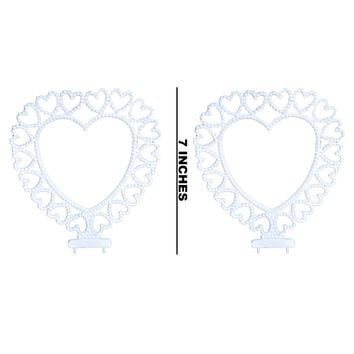 2 Heart Back Arch Wedding Cake Topper or Centerpiece DIY Craft Party Decoration