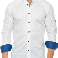 Flavour White Camou | Dress Shirt by MACEOO