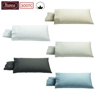 Pair of 300TC Heston Cotton Percale King Pillowcases by Bianca
