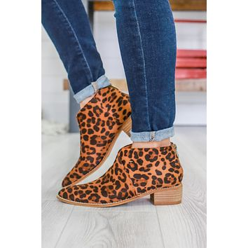 Hallie Booties - Leopard