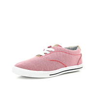 River Island Boys red smart plimsolls