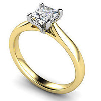 AMAZING PRINCESS STUD 925 STERLING SILVER ENGAGEMENT AND WEDDING RING FOR HER