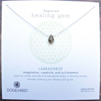 dogeared healing gem labradorite pendant necklace