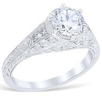 """Whitehouse Brothers """"Heart of the Vineyard"""" Diamond Engagement Ring"""