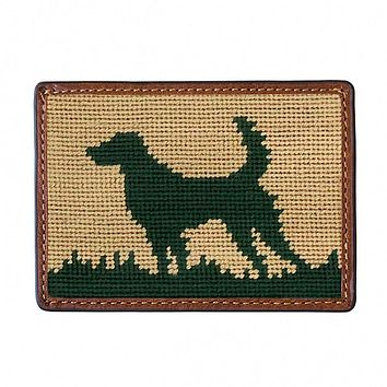 Hunting Dog Needlepoint Credit Card Wallet by Smathers & Branson