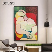 Picasso Dreaming Woman Abstract Canvas Painting Art Wall Pictures For Living Room Home Decor Posters And Prints HD Nordic Style