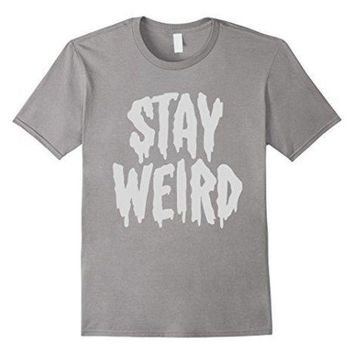 CREYXT3 Stay Weird' Creepy Cute Pastel Goth Graphic T-Shirt 100% Cotton T-Shirts for Man Top Tee Men T Shirt Free Shipping Plus Size